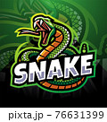 Snake esport mascot logo design 76631399