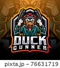 Duck gunner esport mascot logo design 76631719