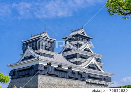 熊本城 熊本地震前震から5年目、2021年4月14日の熊本城 76632629