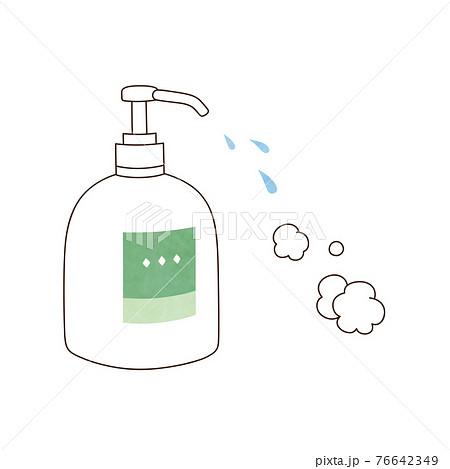 液体ハンドソープと泡 76642349