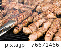 kebabs on the grill 76671466
