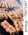 kebabs on the grill 76671467