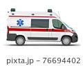 Ambulance car isolated on white. 76694402