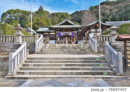 【鶴羽根神社】 広島県広島市東区二葉の里 76697497