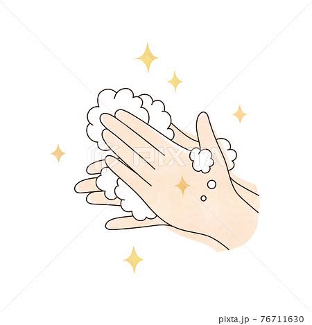 清潔な両手と泡 76711630
