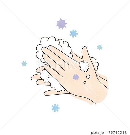 両手と泡 ウィルス 76712218