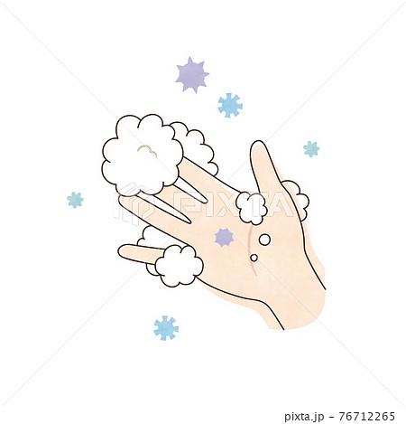 右手と泡 ウィルス 76712265