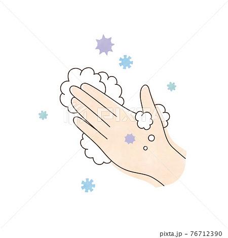 左手と泡 ウィルス 76712390