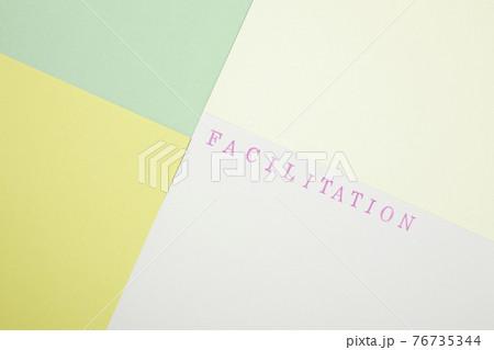 ファシリテーション facilitationピンクのスタンプ文字 76735344