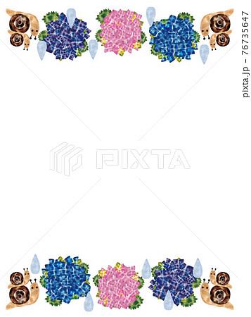 紫陽花・カタツムリ 76735647