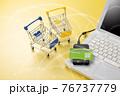 パソコンとショッピングカート ネット通販のイメージ 76737779