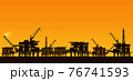Oil derrick in sea for industrial design. 76741593
