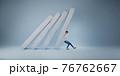 Businessman help pushing bar graph 76762667