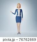 Cartoon character business woman 76762669