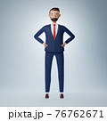 Full of confidence cartoon character businessman 76762671
