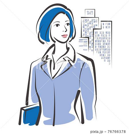 働く女性のベクターイラスト ビジネスウーマン 76766378