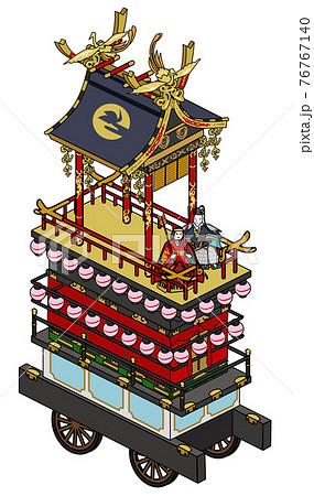 岐阜県の高山祭-からくり神輿 76767140