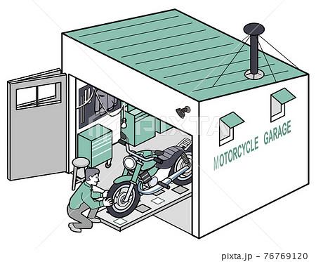 バイク専用のガレージ 76769120