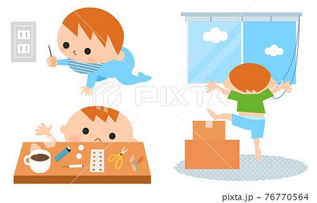 赤ちゃんと幼児期に起きやすい事故の原因 76770564