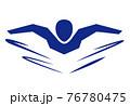 水泳 バタフライ 76780475