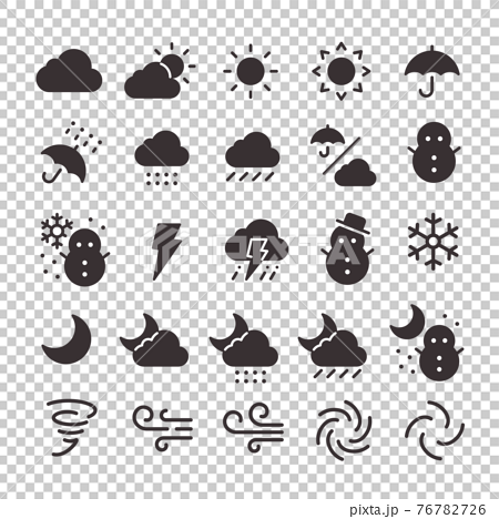 25 Icon set No.16 (weather) 76782726