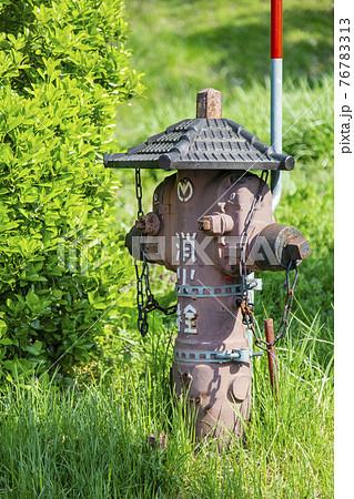 上山城の消火栓 76783313