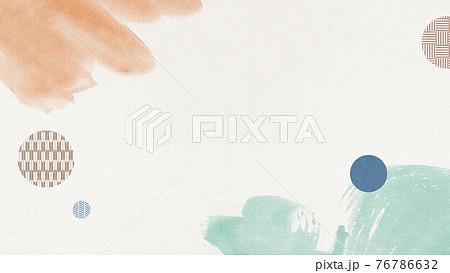 和紙を使った抽象的背景素材 水彩 塗りムラ【16:9】 76786632