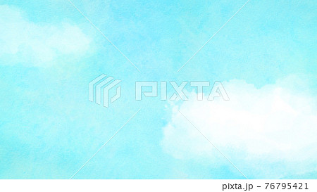 絵画風のシンプルな空と雲 - 複数のバリエーションがあります 76795421