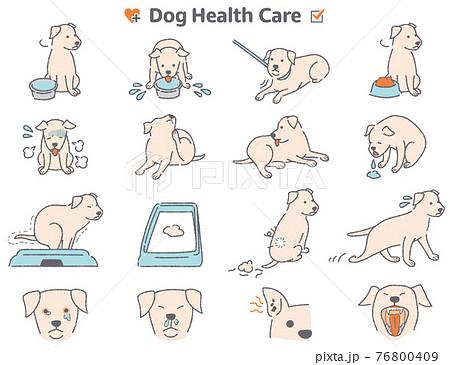 犬の体調症状イラストセット 76800409