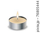 Candle light flame isol on the white 76805444