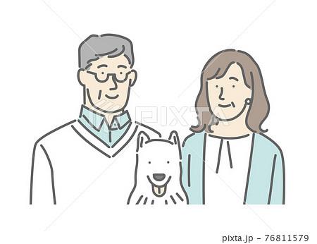 シニア世代の家族の形のイメージイラスト素材 76811579