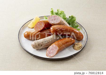 ウィンナー、チョリソー皿盛り 76812814