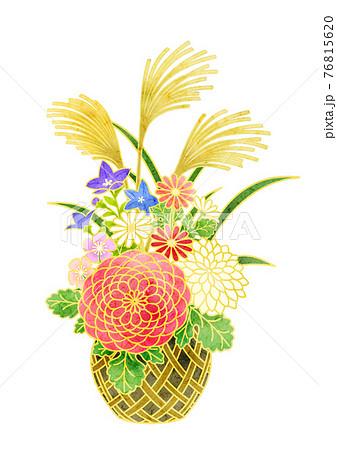 秋の花籠 76815620