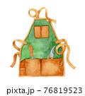 手描き水彩|エプロンのイラスト 園芸道具 76819523