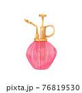 手描き水彩|ピンク色 霧吹きのイラスト 76819530