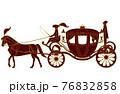 欧風の馬車のイラスト 76832858