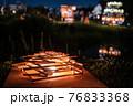 ヨシの光と湖|西の湖ヨシ灯り展 76833368