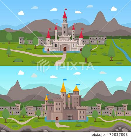 Medieval Ancient Castles Compositions 76837898