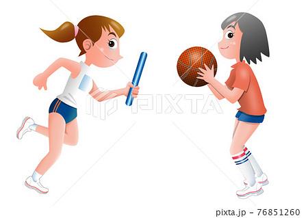 徒競走,バスケットボール,学生 76851260