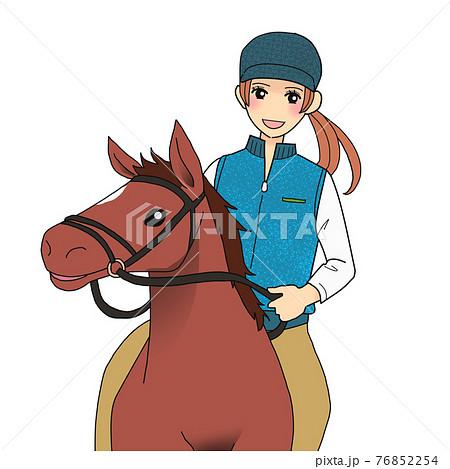 乗馬する女性 76852254