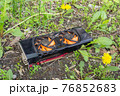 Broken graphics card after bitcoin mining, dumped in a landfill 76852683