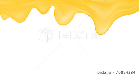 Vector melted cheese or butter isolated on white background.Processed cheese wallpaper. 76854334