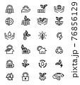 eco icon set 76856129