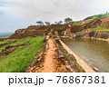 Ruins on top of Sigiriya Lion's rock palace and fortress 76867381