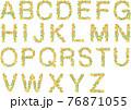アルファベット花文字赤系 76871055