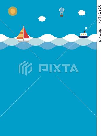 海に浮かぶヨットと船 76871810