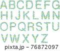 アルファベット花文字青系 76872097