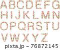 アルファベット花文字 76872145