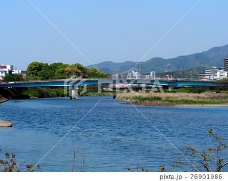 川下からの月の瀬橋(春の鏡川 '21) 76901986