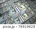Dollar packs background. Growth of income and financial prosperity concept. 76919628